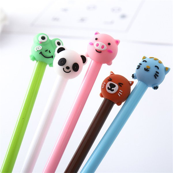 best selling Cartoon Animal Neutral Pen Lovely Student Writing Tool Office Signature Pen School Office Supplies Gel Pen Student Gift