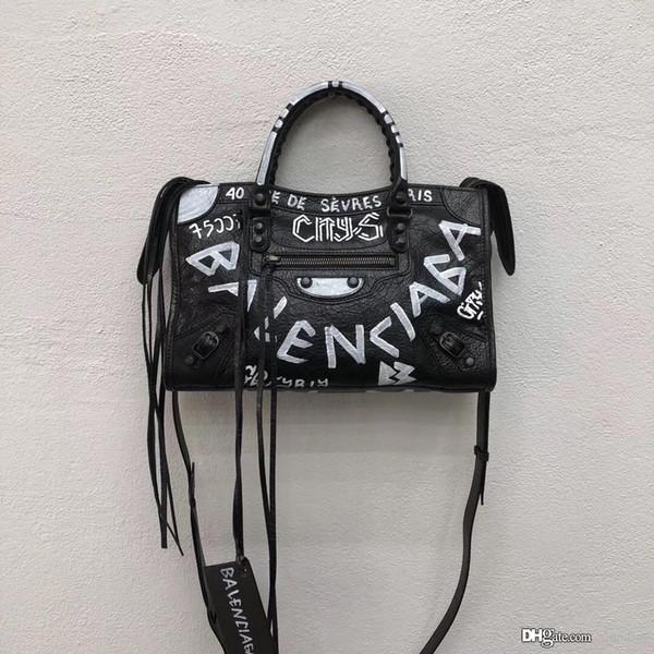 Yeni 2019 Klasik Moda Kadınlar Messenger Çanta Omuz Çantası Bayan Küçük Golder şehir Hakiki Deri ChainsTotes çanta Çanta oymak