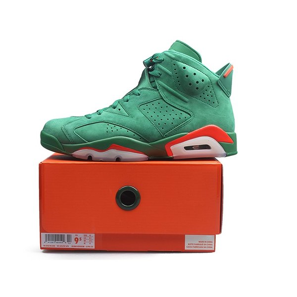 buy online 521b1 36537 Green Suede Gatorade 6 Mens Basketball Shoes 6S NRG G8RD Pine Green  Gatorade Women Designer Athletics Sports Sneakers size 5.5-13