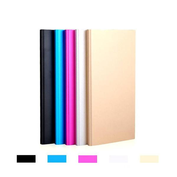 Metal Slim Power Bank 20000 mah Cargador de respaldo móvil portátil con batería de 2 puertos USB Cargador de emergencia para Iphone 7 Samsung HTC Xiaomi Huawei
