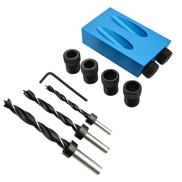 Schrägbohrer 15-Grad-Winkelbohrkronen-Bohrvorrichtungs-Klemmsatz für handwerkliche Holzbearbeitungswerkzeuge