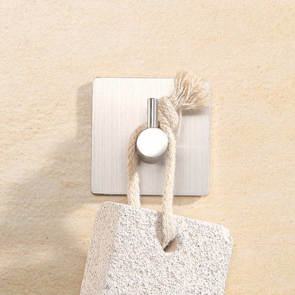 2019 Self Adhesive Home Kitchen Wall Door Hook Key Rack Kitchen Towel  Hanger Stainless Steel From Happyada, $1.3 | DHgate.Com