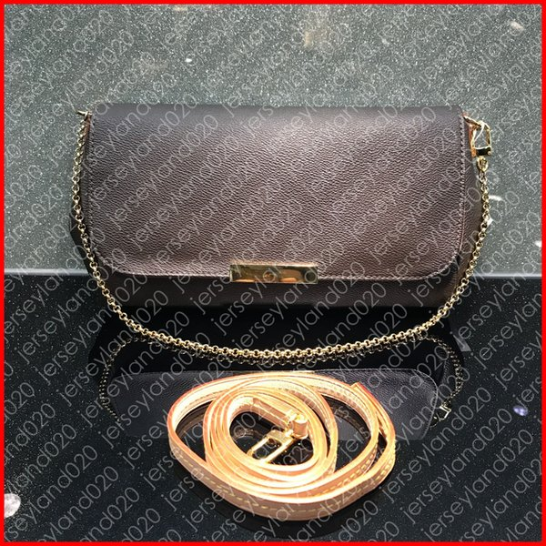 M40718 FAVORITE MM PM Designer Fashion Women's Cross Body Bag Luxury Shoulder Chain Clutch Bags Brand Evening Handbag CANVAS Free Shipping