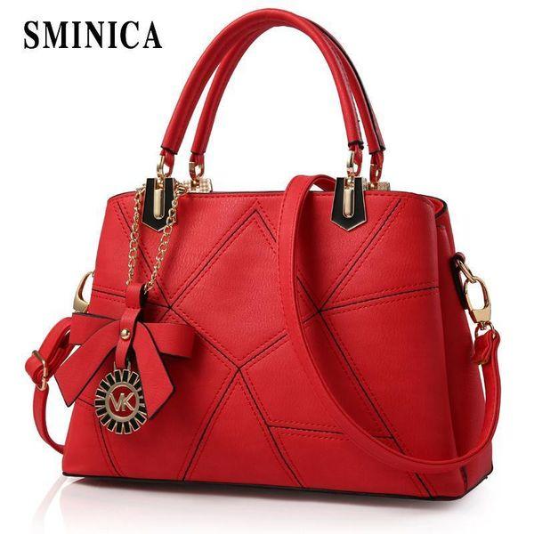 Sminica Niza Vogue elegante Pu cuero mujer bolsos Pop mujer coreana moda bolso Crossbody dulce bolsas de hombro