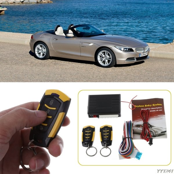 2019 High Quality 12V Car Auto Alarm Remote Central Door Locking Vehicle Keyless Entry System Kit Car Styling