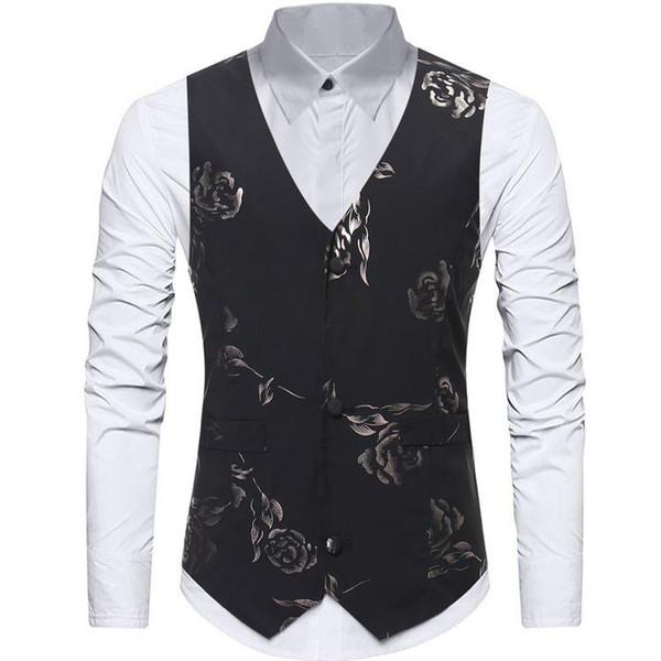 Slim Fit Men Vest 2019 Mens Wedding Waistcoat Casual Suit Vest Groom Formal Business Designer Jacket