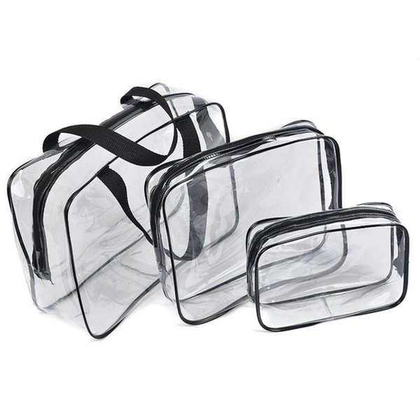 Transparent PVC Bags Travel Organizer Clear Makeup Bag Beautician Cosmetic Bag Beauty Case Toiletry Make Up Pouch