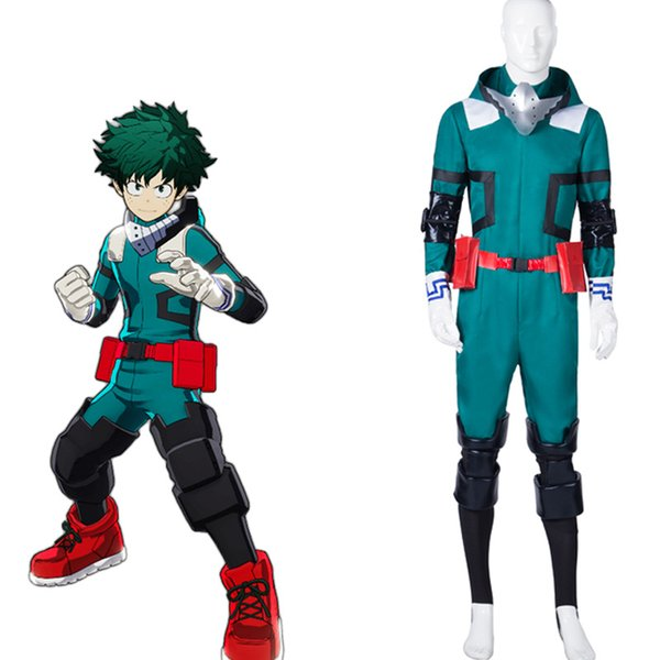 Anime My Hero Boku no Hero Akademia Izuku Midoriya Deku bataille Uniforme Jumpsuit Cosplay Costume Party de Noël