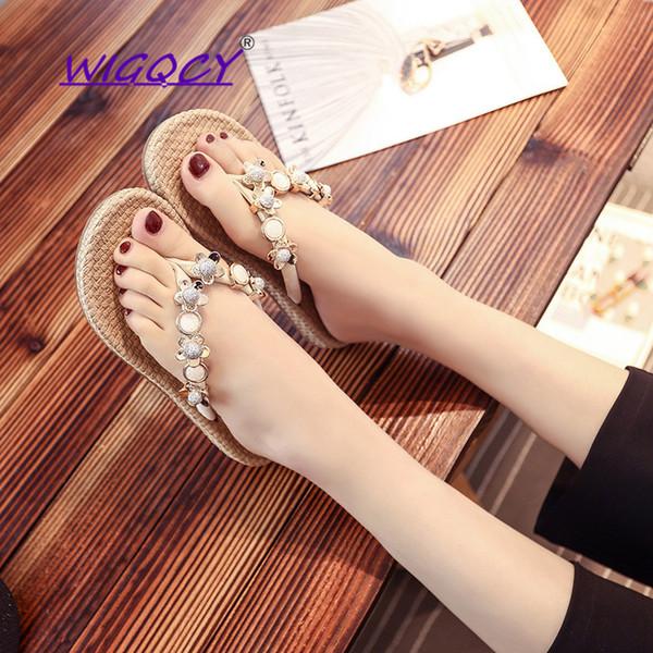 Beach infradito donna 2019 nuove scarpe estive donna mare selvaggio usura vacanze comode pantofole piattaforma indossabile scarpe da donna