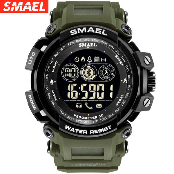 SMAEL Men Super Smart Watch Waterproof Bluetooth Army Sport Wrist watch For Android IOS Phone clock saat xfcs In stock