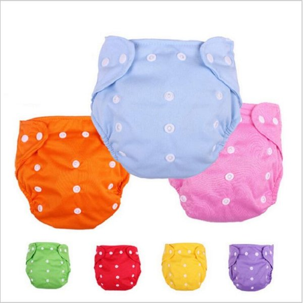 Infant Diapers Baby Cotton Solid Color Diaper Waterproof Reusable Adjustable Nappy Diaper Training Pants Newborn Washable Diapers LT234