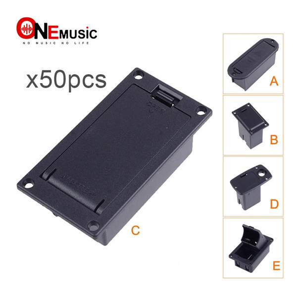 best selling 50pcs CHEAP Quality 9V Battery Box Case holder for Active Guitar Bass Pickup