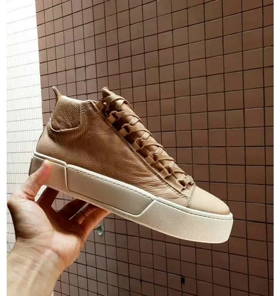 Zapatillas Arena Zapatillas Kanye West Zapatillas Hombre Zapatillas de moda Casual con cordones Confort Trainer Supperstar High Top Flat Hombre Zapatos De Sport