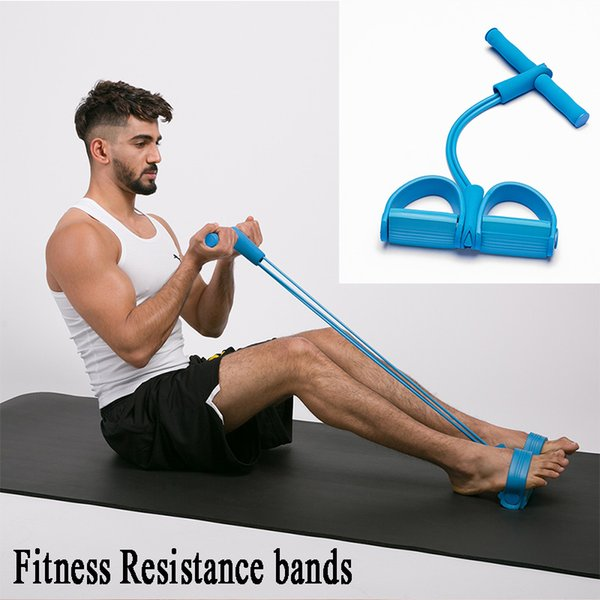 Resistance bands 4 Tubes Fitness Equipment Yoga workout bands Rubber Latex exercise pull rope training Sit Up Pull Ropes