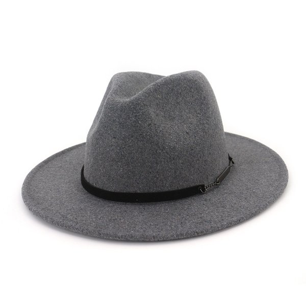 High Quality Wide Brim Wool Jazz Hat Trendy Unisex Men Women Panama Fedora Hats Formal Party Felt Trilby Floppy Hat Cap