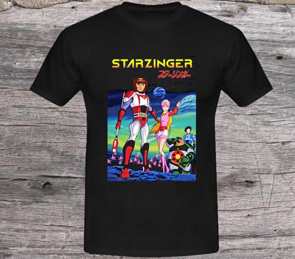 РЕДКО Starzinger 70-х годов классический японский телевизор мультфильм мужской логотип ФУТБОЛКИ S-5XL 2018 Смешная футболка, Симпатичные футболки Man, 100% хлопок Cool,