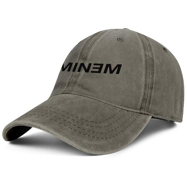 Men Women vintage Denim caps wash Adjustable Eminem logo designer ball cap slouchy Dad hats Outdoor
