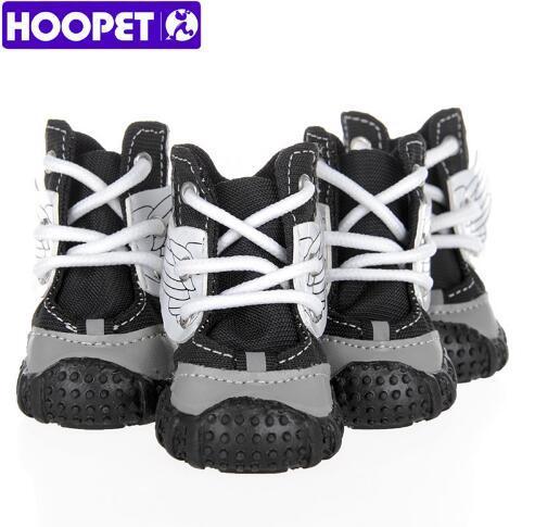 HOOPET Chaussures de démarrage cool pour chien, petit chien Chaussures rembourrées en coton, deux couleurs, bandages en nylon