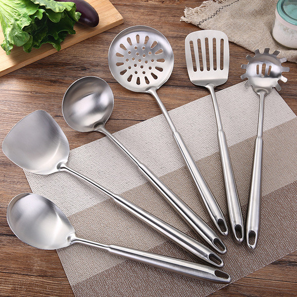 Western Wholesale Utensils Brushed Polish Stainless Steel Utensils Durable Cooking Tools Utensil Sets Home Star Hotel