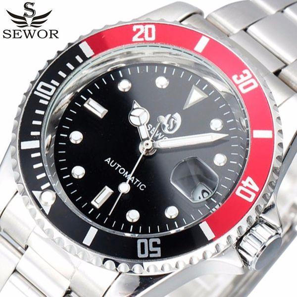 Sewor Top Marke Luxus Datum Sport Automatische Mechanische Uhr Männer Armbanduhren Uhr Army Military Uhren Relogio Masculino J190614