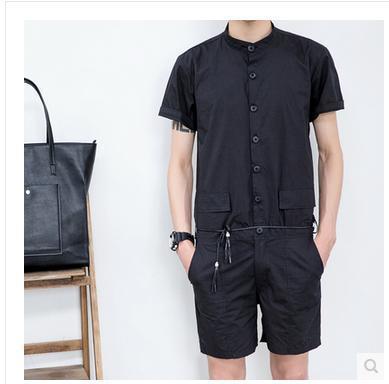 S-5XL! 2017 новая мужская мода случайные летние комбинезоны комбинезоны тонкие брюки цельный плюс размер сценические костюмы певицы