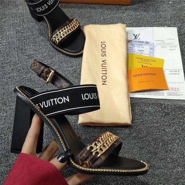 diseñador nuevo y usado varios colores como comprar Compre PASSENGER SANDAL Tacones Altos Moda Diseñador De Lujo Mujer  Diseñador Sandalias Zapatos Para Mujer Tacones Altos Sandalias De Lujo Con  Caja De ...
