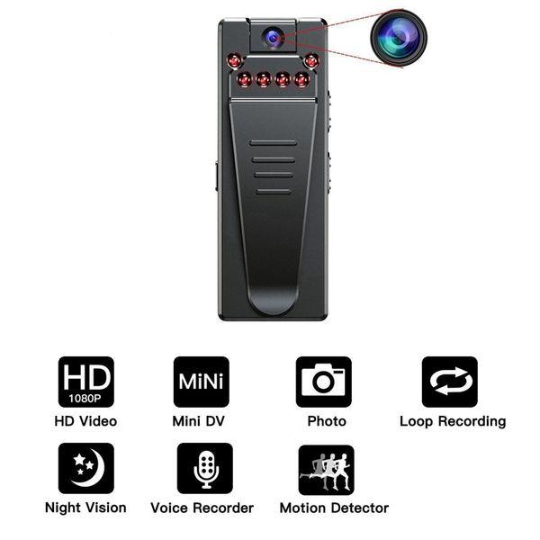 5M Infrared Night Vision MINI Camera Full HD 1080P Wearable body Mini Camera motion detection DVR Digital Video Voice Audio Recorder camcord