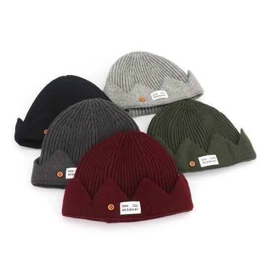 Women Man Warm Wool Beanie Knit Ski Cap Hip-Hop Blank Color Warm Unisex Hat