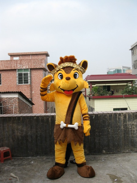 58c093306 Professional custom yellow fox Mascot Costume Character animal Mascot  Clothes Christmas Halloween Party Fancy Dress