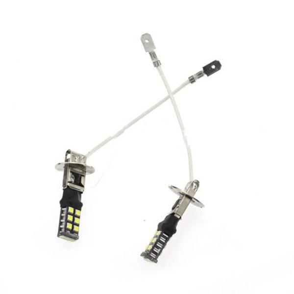 2PCS 15LED H3 15W Canbus Brouillard Conduite DRL Ampoules Lampes Haute Puissance Ultra Blanc