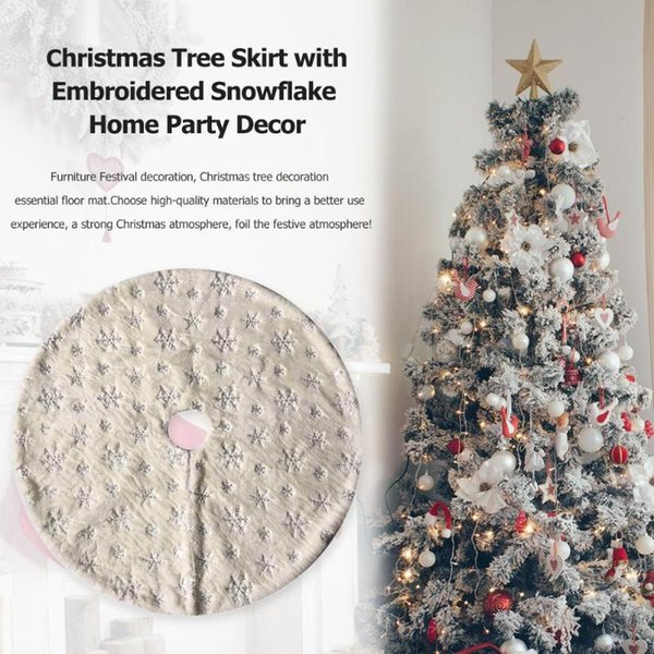 xmas tree skirts apron blanket mat cover gold silver snowflakes party decor home festival christmas tree decoration