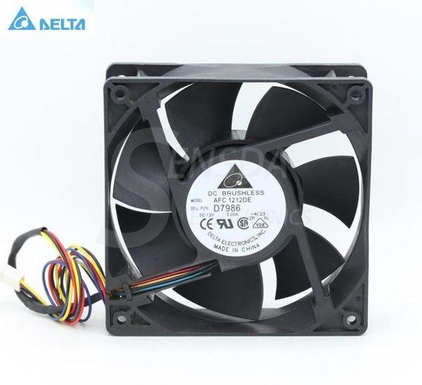 Delta AFC1212DE D6168 12CM 120MM 12038 DC 12V 3.0A powerful case inverter pwm cpu computer radiator Cooling fans