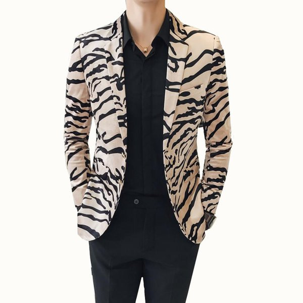 Men Suits New Summer Suit Wedding Attire For Men's Leopard Slim Blazer Large size men blazer masculino Plus Size 3XL