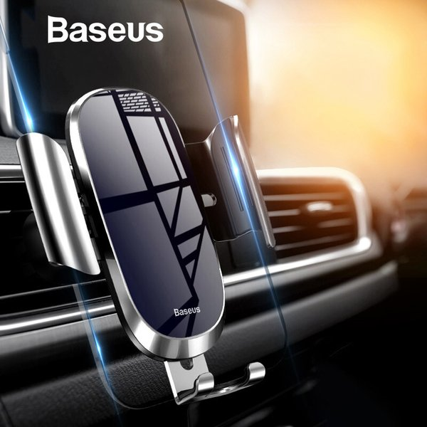 Baseus Car Phone Holder For Iphone Samsung Mobile Phone Holder Stand Metal Gravity Air Vent Mount Gps Cell Phone Holder In Car T190625