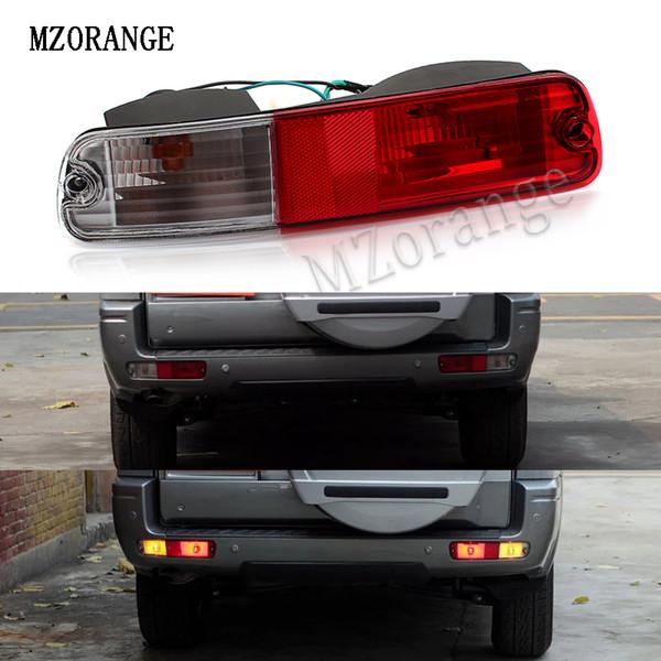 mzorange rear fog lights rear reflector for mitsubishi pajero v73 2003-2007 bumper lamp v75 v77 for montero 2003-2006