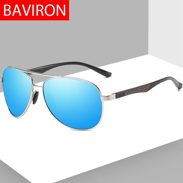 63120bc5c2 BAVIRON Classic Polarized Men Sunglasses PilotBrand Designer Gafas de sol  para hombre Piloto Retro Hombre Gafas