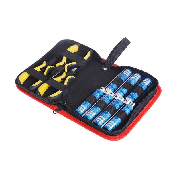 10in 1 Tool Kit Schraubendreher Zangen mit Box für Align 450 Hubschrauber Flugzeug RC Modellauto Reparatur