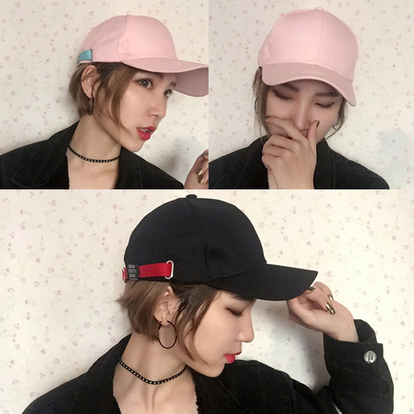new Cap Casual casual couple baseball cap Personality buckle visor hat women hat snapback gorras bone caps casquette mom