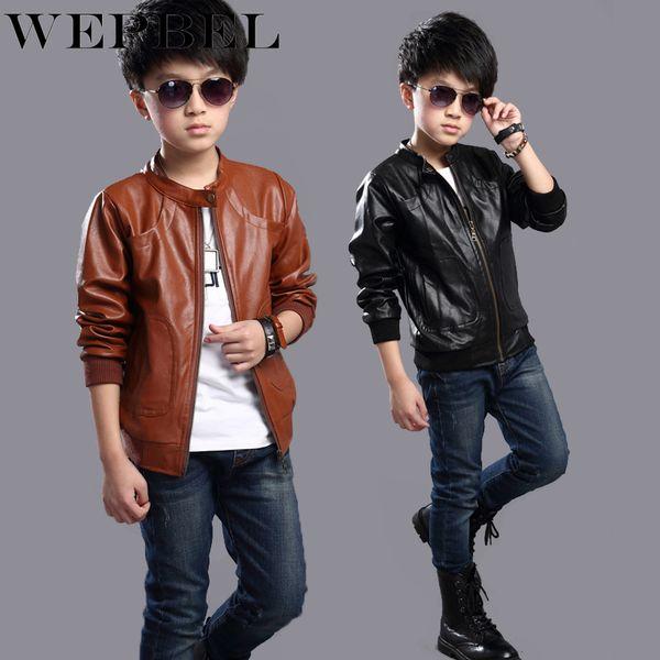Manteaux d'hiver d'hiver pour garçons WEPBEL, vêtements d'extérieur de mode pour enfants en similicuir