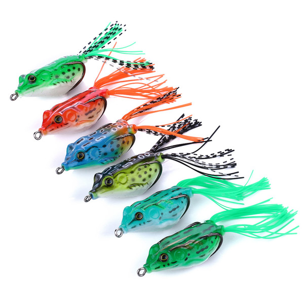 top popular Lifelike Soft Frogs Lures Silicone Bait Fishing Tackle Crankbait 5.5cm 13g Frog Fishing Lure 2020