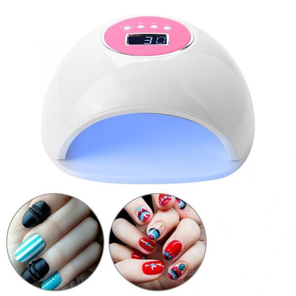 72 W Çift Işık Kaynağı UV LED Tırnak Kurutucu Otomatik Zamanlayıcı Fototerapi Makinesi Oje 33 Leds Oje Manikür aracı l