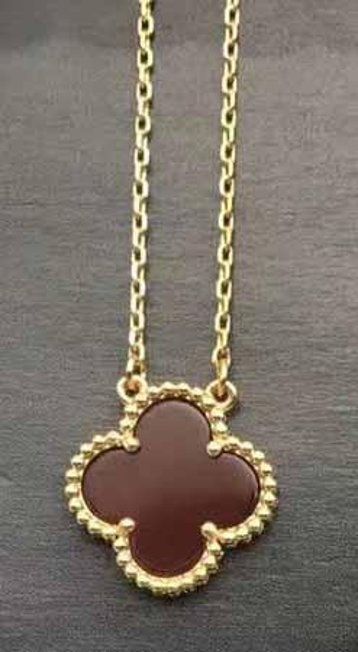 золото + красное ожерелье