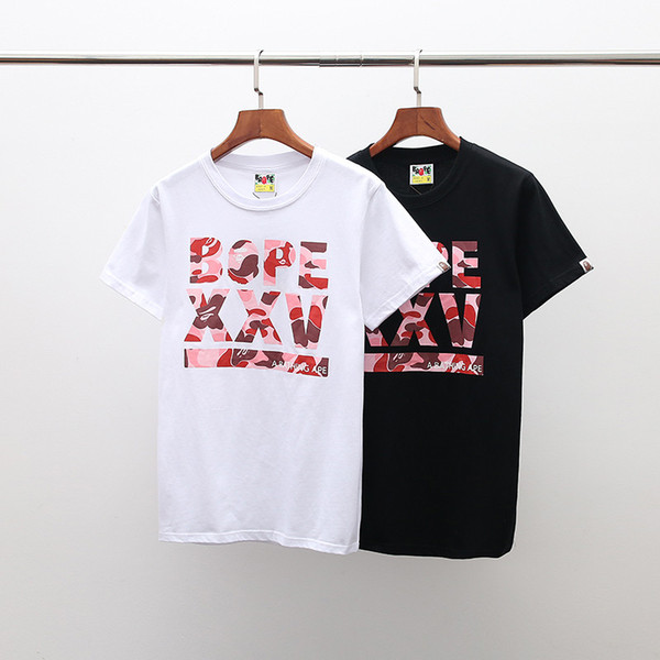 Ropa de lujo para hombre Moda Hombres Mujeres Marca Camiseta En Diseñador de Verano Cuello Redondo Estampado Corto Para Hombre T Shirt Camisetas Casual