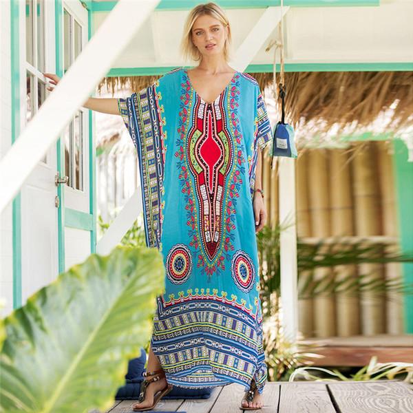 robes de créateurs de luxe de style sud-américain imprimé robe mode décontractée robe grande taille taille libre couleur différente disponible
