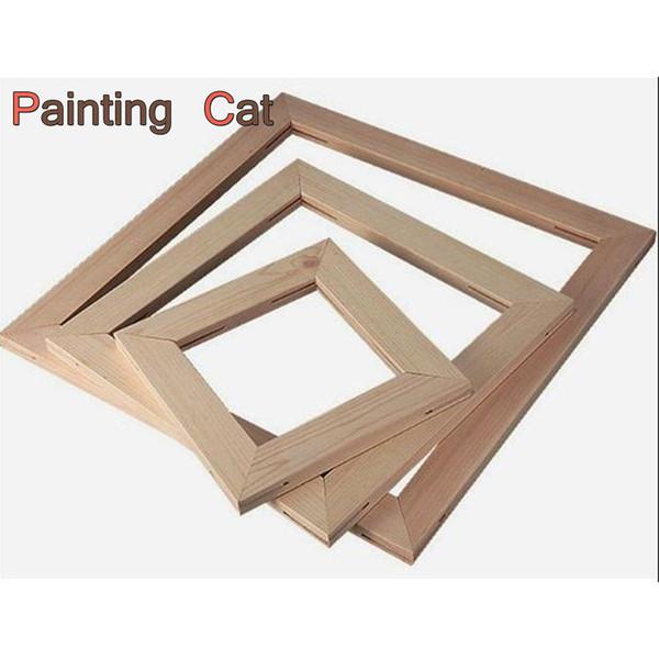 Telaio in legno a buon mercato per la pittura della tela Immagine fabbrica Fornire a parete DIY Photo / Poster / Famiglia / Art Cornice in legno per la casa di nozze