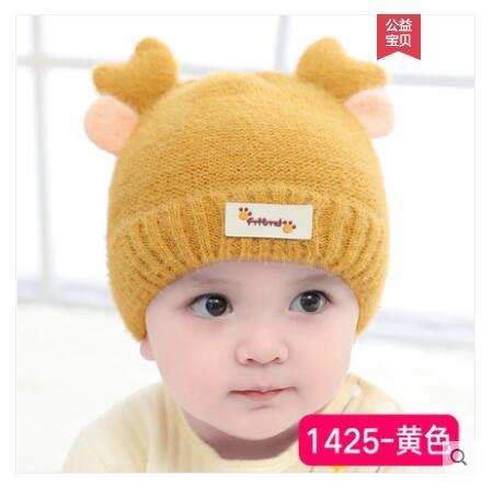 chapeau bébé chapeau enfants hiver automne chaud laine hiver enfant garçon chapeau fille tricot 39