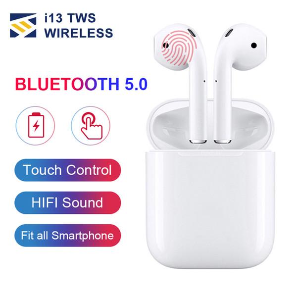 I13 tws Pop Up Kablosuz kulaklık kulaklık 5.0 bluetooth kulaklık hava renkli dokunmatik kontrol bakla kulaklık PK i14 i88 i10 i12 i9 tws kutusu