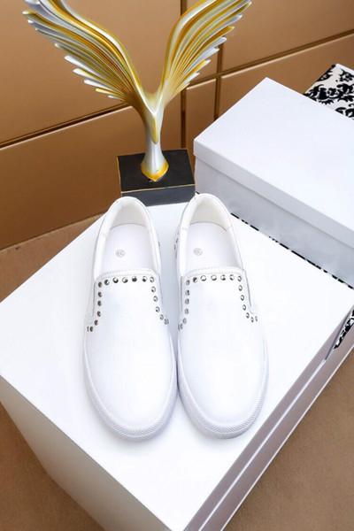 2018 Novo Designer Nome Da Marca Homem Sapatos Casuais Plana Moda Couro Amassado Lace-up Low Cut Formadores Runaway Arena Sapatos 38-44 163034