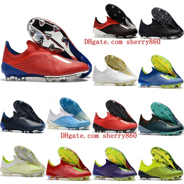 2019 new arrival top quality laceless mens soccer shoes x 18 FG soccer cleats outdoor football boots chuteiras de futebol