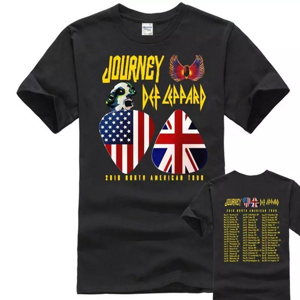 NOUVEAU Journey et Def Leppard Dates de la tournée 2018 MENWOMET'shirt Wholesale M-2XL LIMITED Maillots de Baseball Cool Summer Tees Hiphop